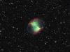 A Határ a csillagos ég észlelőidőn készült felvétel az M27 planetáris ködről (2011.08.29. Piszkéstető, 60/90/180 cm-es Schmidt-teleszkóp, Apogee Alta U16 4K CCD kamera, Bessell 1990 BVRI szűrők)